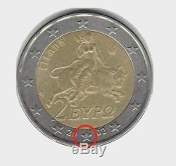 Piece 2 Euros Grecque Avec S Tres Tres Rare -a Saisir
