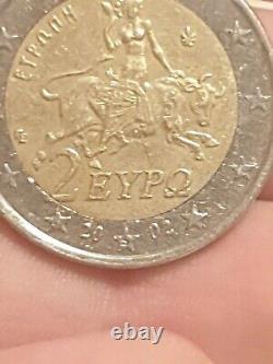 Piece 2 euro de 2002 avec le S tres rare