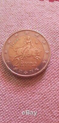 Piece 2 euros rare grecque année 2002 piece très recherche