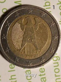 Piece De 2 Euro 2002 Aigle Frapper F Tres Rare