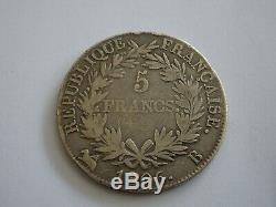 Piece De 5 Francs En Argent Napoleon Empereur De 1806b Tres Rare