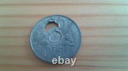 Piece Fautee Tres Tres Rare De 20 Cts 1943 Piece Unique