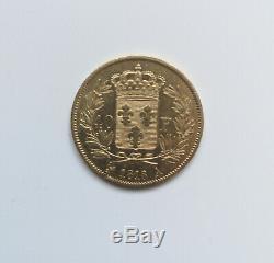 Pièce Or de collection 40 Francs Louis XVIII 1818 A Paris TRÈS RARE