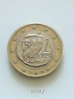 Piece de 1 Euro Collection-Rare Hibou- Grèce 2002- S de Suomi! Très bon état