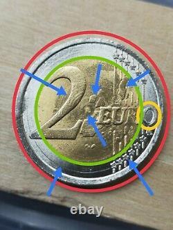 Pièce de 2 Euros Très Très Très Rare(hybride entre 1999 et 2012)