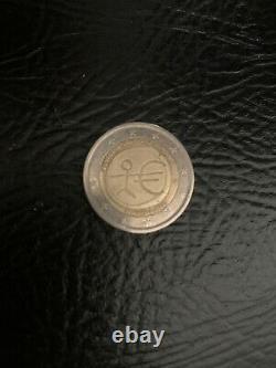 Pièce de 2 euro Très rare. Wwu 1999-2009 Bundesrepublik Deutschland Authentique