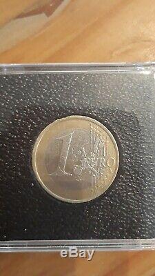 Pièce très rare 1 euro étoiles tournantes allemagne 2002
