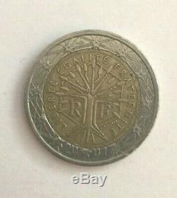 Pièce tres tres rare 2 euro fauté arbre de vie 2001