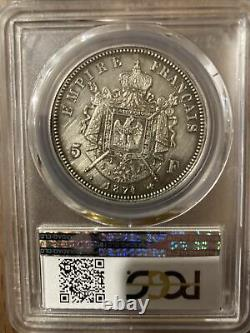 Pieces Ecu 5 fr argent Napoleon IV Tres Rare
