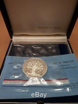 Piéfort Panthéon 100 francs argent 1983 TRES RARE