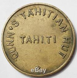 Polynesie Tres Rare Jeton Du Celebre Dancing Quinn's Tahitian Hut A Papeete