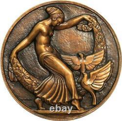 R1962 Très Rare Médaille Art Déco Dancer Colombes Aulos 1926 Turin N°26/50 SUP