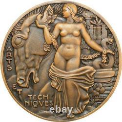 R2015 Très Rare Médaille Art Déco Exposition Internationale 1937 Jean Vernon SUP