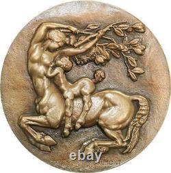 R2016 Très Rare Médaille Art Déco Centaure SAMF N°48 Paris 1937 Gaumont SUP