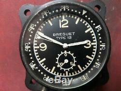 Rare Breguet Type 12 Flyback Valjoux 555 Aviation Vintage Tres Bel Etat