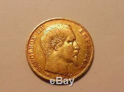 Rare Et Très Jolie Monnaie 20 Frs Or Napoléon III 1855 D / Ttb+ / 6.45 Gr