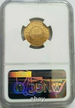 Rare et très belle pièce de 20 francs or 1815 A Napoleon I Cent jours NGC AU 50