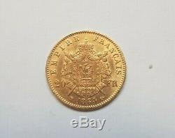 Rare et très belle pièce de 20 francs or 1864 BB Napoleon III variété grand BB