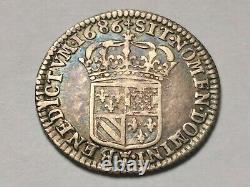 Rare et très joli 1/16 ième d'écu de Flandre 1686 L! 2,24 g