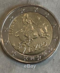 Rare piéce 2 année 2002 Gréce frappé du S Suomi Piece 2 euros très rare 2002 S