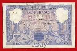 (Ref J. 299) 100 FRANCS BLEU ET ROSE 27/07/1900 (TRÈS RARE) TB+