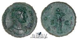 Romaine. As. Hadrien. Rome. Bronze. Très rare! Hadrian. TTB
