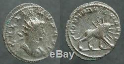 Romaine! TRES RARE Antoninien de GALLIEN COHORTES PRETORIENNES (ROME)