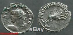 Romaine! TRES RARE Antoninien de GALLIEN IVe LEGION FLAVIA (Serbie), rv au Lion