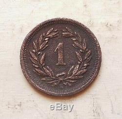 SUISSE 1 rappen 1855 B trés rare