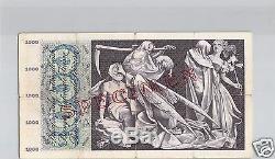 SUISSE SPECIMEN 1 000 FRANCS 30.9.1954 PICK 52 a TRES RARE
