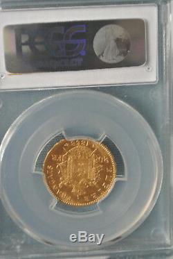 Slavée MS 64 20 FRANCS OR NAPOLEON III 1868 A état TRES rare