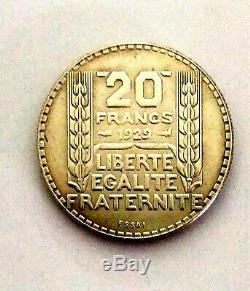 Superbe piece essai de monnaie 20 francs 1929. Très rare pour collectionneurs