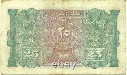Syrie Liban 25 Piastres 1919 P-2 Mandate Émission A Très Rare Et Beau Note