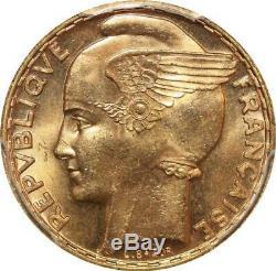 T2909 TRES RARE 100 Francs or gold Bazor 1936 PCGS MS64! A GEM Make offre