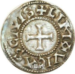 T306 Tres Rare Carolingiennes Eudes Odo Roi 878-898 Denier Limoges Argent