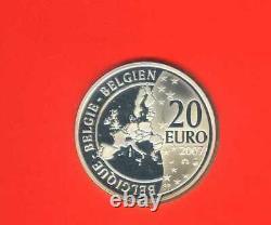 TINTIN COFFRET BE 20 EURO 2007 ARGENT TINTIN BELGIQUE Très RARE