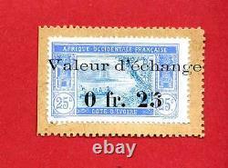(TM 03) TIMBRE MONNAIE DE LA COTE D'IVOIRE 0,25 Ct 1920 TRÈS RARE