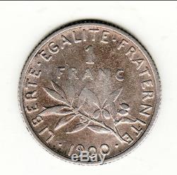 TRES RARE 1 FRANC SEMEUSE ARGENT 1900 cote TTB 1100 EURO