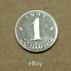 TRES RARE 1 centime èpi 1991 BE frappe monnaie RARE cote 320 euro FDC 65 NEUVE
