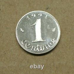 TRES RARE 1 centime èpi 1991 BE frappe monnaieRARE cote 320 euro FDC 65 NEUVE