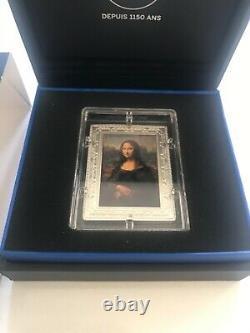 TRES RARE 10 euro JOCONDE Mona Lisa Argent couleur BE France 2019 Monnaie Paris