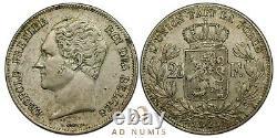 TRES RARE 2 1/2 francs 1848 Léopold I Petite tête Bruxelles Belgique TTB+ Argent