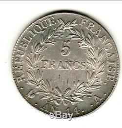 TRES RARE 5 FRANCS NAPOLEON AN 14 A SUP magnifique portrait