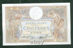 TRÈS RARE BILLET DE 100F MERSON DU 19 5 39 numéro 000