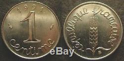 TRES RARE FDC 1 centime épi 1991 neuf/scellé en frappe médaille
