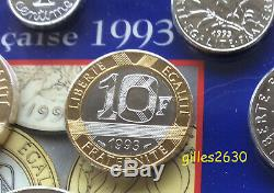 TRES RARE FDC 10 francs 1993 neuve/scellée en frappe médaille