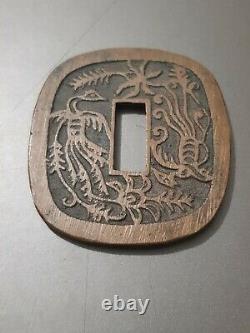 TRES RARE, JAPON pièce de 100 mon AKITA TSUBASEN de 1862 queue du phénix courte