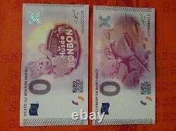 TRES RARE LOT de BILLETS TOURISTIQUES SOUVENIRS 0 EURO 16 X N°00003 de 2015