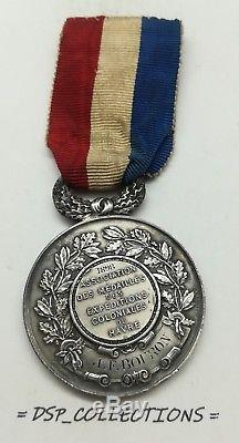 TRÈS RARE MÉDAILLE ARGENT EXPÉDITIONS COLONIALES du HAVRE 1898 // Réf8-MD