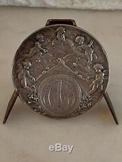 TRÈS RARE Médaille De mariage 1905 argent Silver Medal L@@K